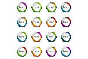 Hexagon vector logo icon templates
