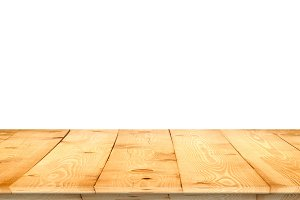 Wooden tabletop perspective for product placement
