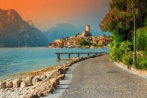 Malcesine resort in Italy