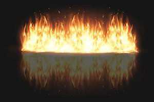 illustration of burning fire flame