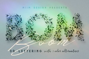 Boom - 3D Lettering