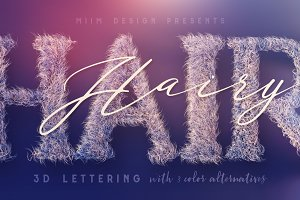 Hairy - 3D Lettering