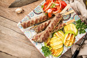 Minced meat kebab