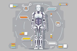 Android artificial intelligence robo