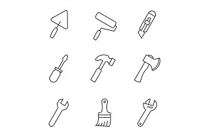 Tools outline icons