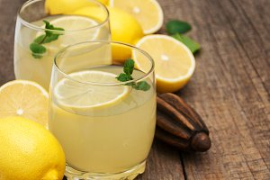 Jars of lemon juice
