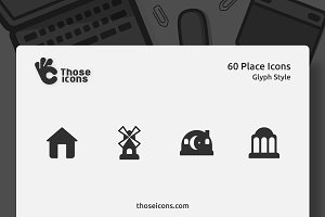 60 Places Glyph Icon