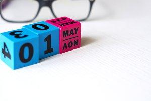 perpetual calendar set on may 1st