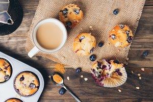 Blueberry muffins breakfast