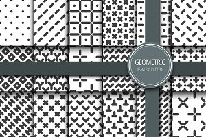 18 GEOMETRIC SEAMLESS PATTERNS