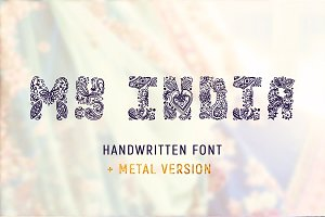 MY INDIA handwritten font