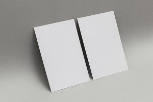 Blank white business card postcard f