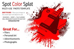 Spot Color Splat Photo Template