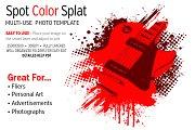 Spot Color Splat Photo Template