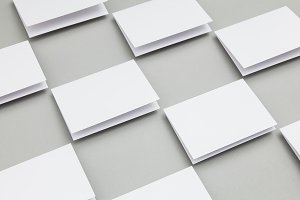 Blank white folded card template