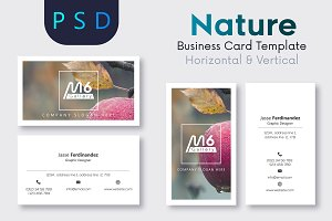 Nature Business Card Template- S22