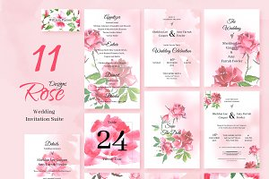 Rose. Wedding Invitation Package