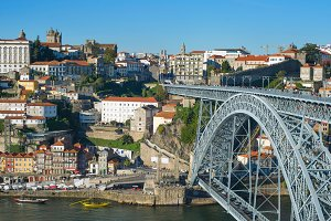 Porto Old Town  Dom Luis bridge