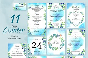 Winter. Wedding Invitation Package
