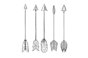 Tribal Indian arrow set.