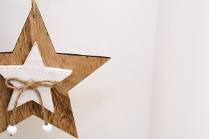 white wooden star shaped