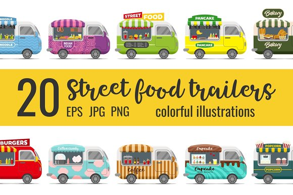 20 fast food street trailers