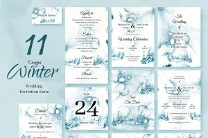 Winter Forest. Wedding Invitations