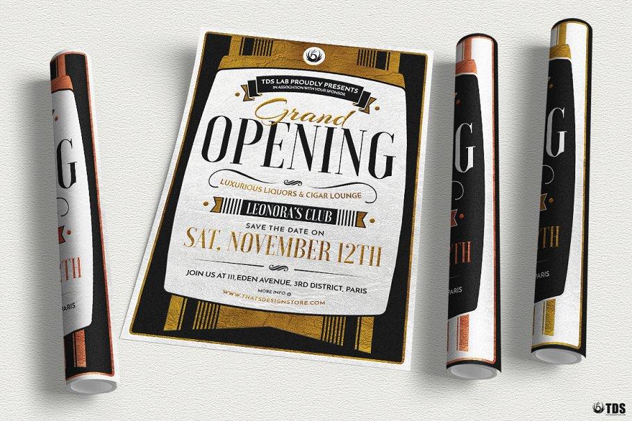 Grand Opening Flyer Psd Flyer Templates Creative Market Pro