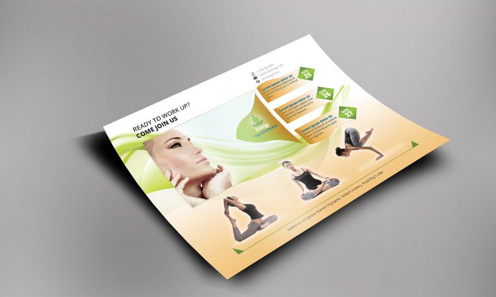 Meditation And Yoga Flyer Templates Flyer Templates Creative Market