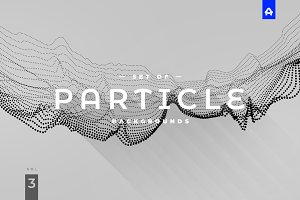 Particle Abstract Backgrounds vol 3
