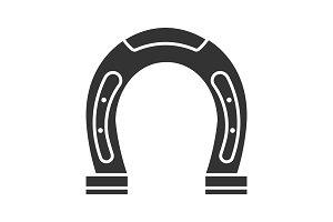 Horseshoe glyph icon