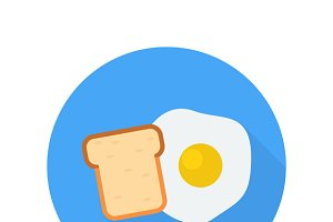 Egg with bread icon
