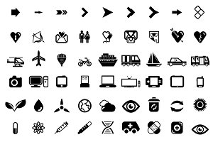 Big set of universal vector icons