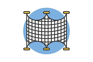 Fishing nets color icon