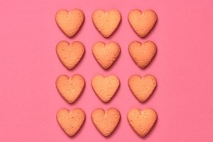 Cookies Hearts. Valentines Day. Love