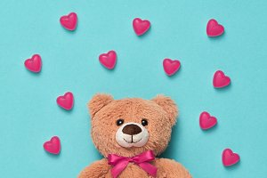 Valentines Day. Love.Teddy Bear with