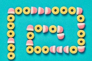 Gummy Candies background