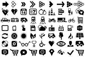 Collection of universal vector icons