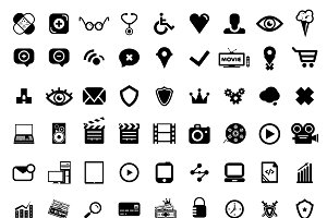 Big collection of universal icons
