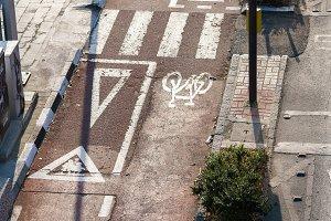 Photo of bicycle asphalt track