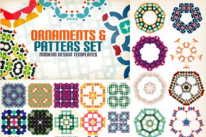 Set of vintage geometric patterns
