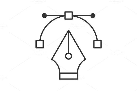 Fountain pen nib linear icon