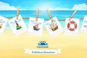 Set of children's illustration vol.2