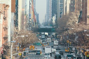 Traffic on street of new york