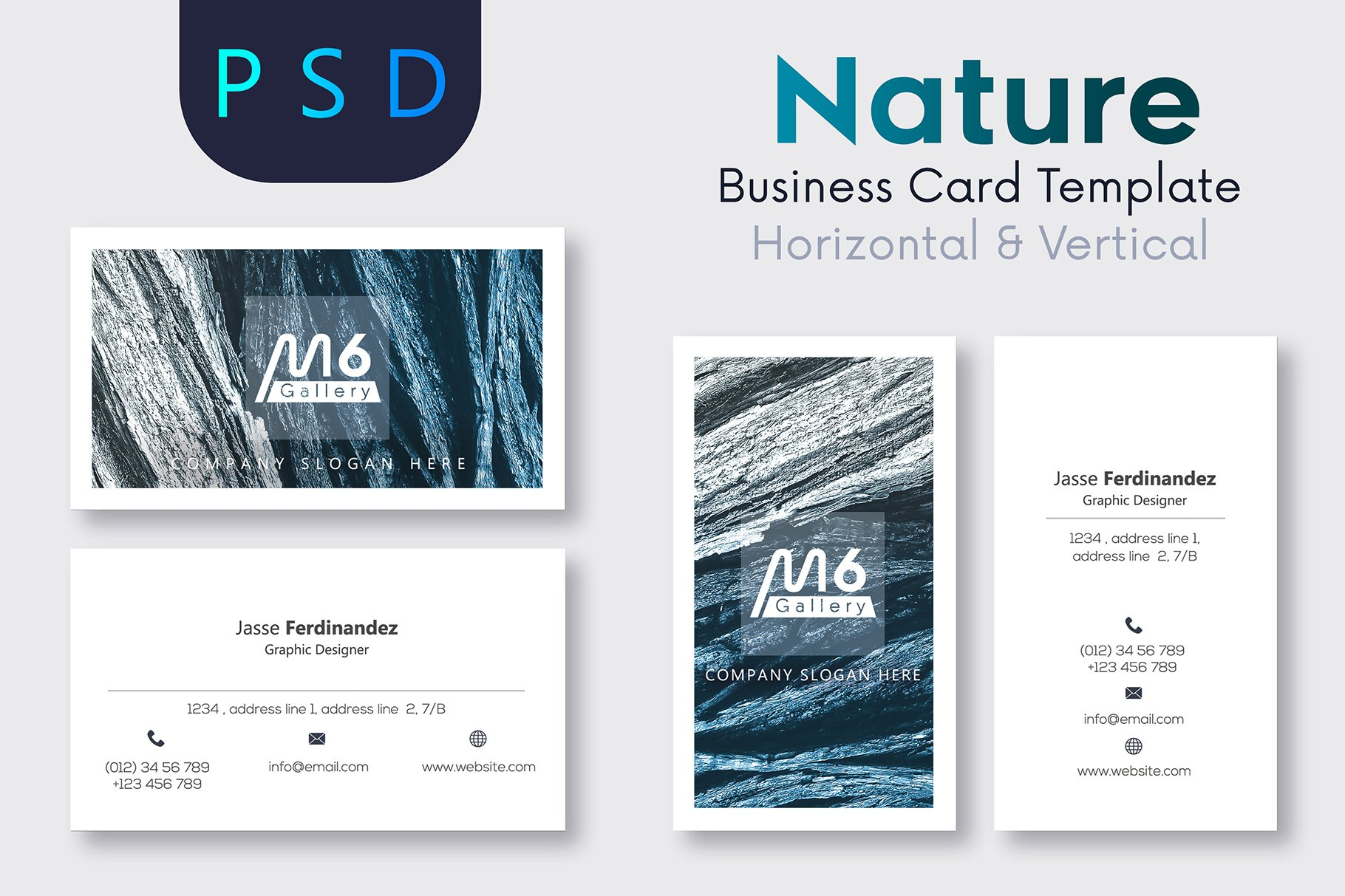 Nature business card template s26 business card templates nature business card template s26 business card templates creative market reheart Images