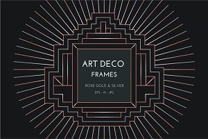 24 Art Deco Badges & Frames