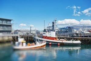 ships in port in Reykjavik