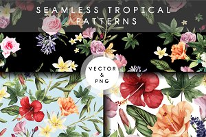 Tropical patterns (VECTOR)