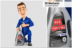 3D Mechanic with Oil Motor Canister