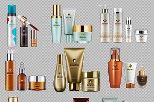 30 Cosmetic Realistic Mockup Bundle